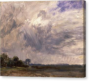 Study Of A Cloudy Sky Cloud Study Landscape With Grey Windy Canvas Print