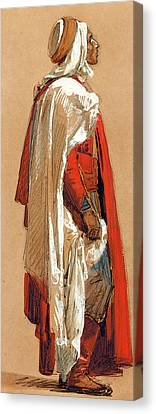 Study Of A Man In Oriental Costume Canvas Print by Isidore Pils
