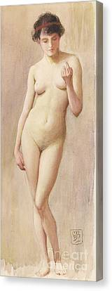 Study Of A Nude II Canvas Print by Murray Bladon