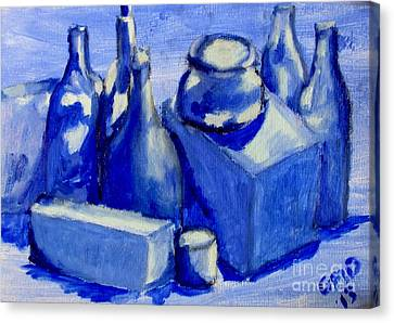 Study Of Boxes And Bottles Canvas Print by Greg Mason Burns
