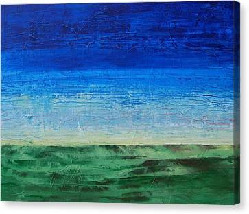 Canvas Print featuring the painting Study Of Earth And Sky by Linda Bailey