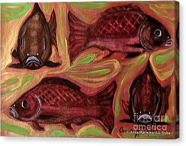 Study Of Fish Canvas Print by Anna Folkartanna Maciejewska-Dyba
