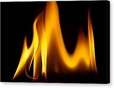 Study Of Flames I Canvas Print by Patrick Boening
