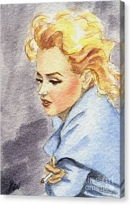 study of Marilyn Monroe Canvas Print