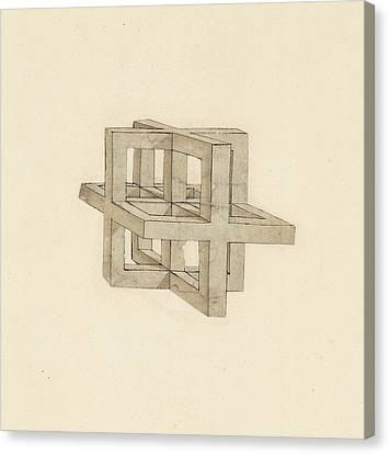 Study Of Perspective  Canvas Print by Leonardo Da Vinci