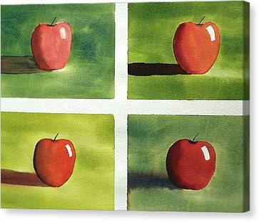 Canvas Print featuring the painting Study Red And Green by Richard Faulkner