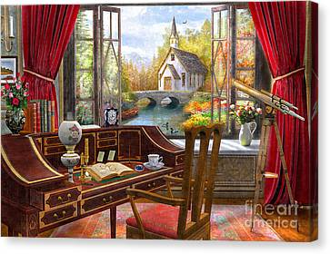 River View Canvas Print - Study View by Dominic Davison