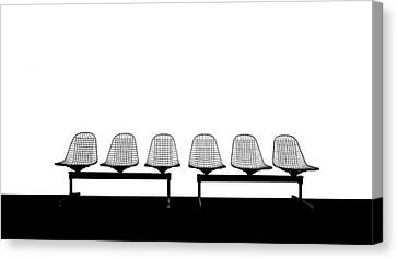 Empty Chairs Canvas Print - Stuhlreihe by Anette Ohlendorf