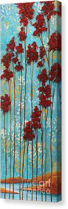 Stunning Abstract Landscape Elegant Trees Floating Dreams I By Megan Duncanson Canvas Print by Megan Duncanson