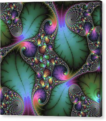 Canvas Print featuring the digital art Stunning Mandelbrot Fractal by Matthias Hauser