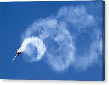 Stunt Plane Corkscrew Canvas Print