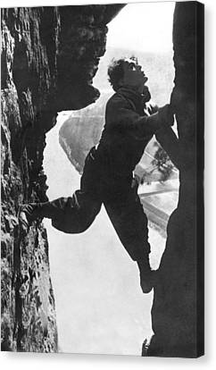 Stuntman Luciano Albertini Canvas Print by Underwood Archives