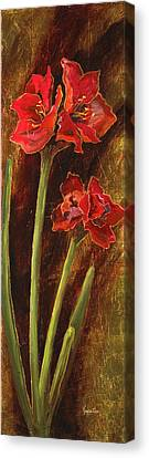 Sturdy Blooms II Canvas Print by Vic  Mastis