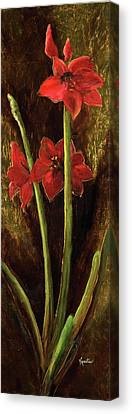 Canvas Print featuring the painting Sturdy Blooms by Vic  Mastis