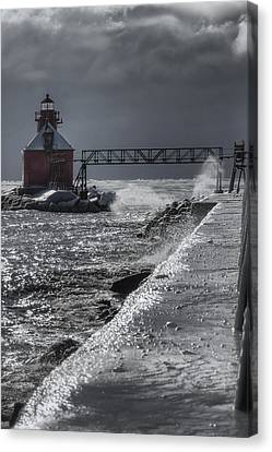 Sturgeon Bay After The Storm Canvas Print by Joan Carroll
