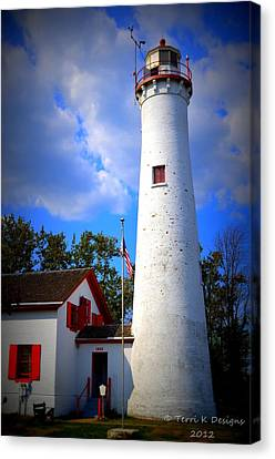 Sturgeon Point Lighthouse Michigan Canvas Print