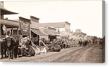 False Power Canvas Print - Sturgis South Dakota C. 1890 by Daniel Hagerman