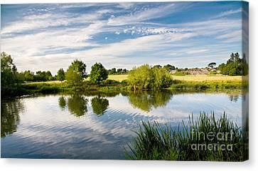Sturminster Newton - River Stour - Dorset - England Canvas Print by Natalie Kinnear
