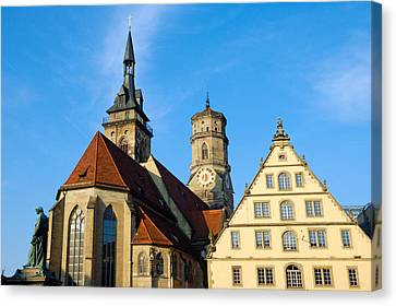 Stuttgart Germany Stiftskirche Collegiate Church Canvas Print