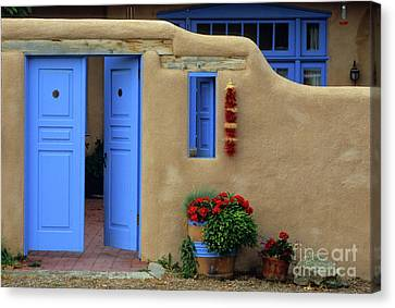 Styling In Taos Canvas Print by Bob Christopher