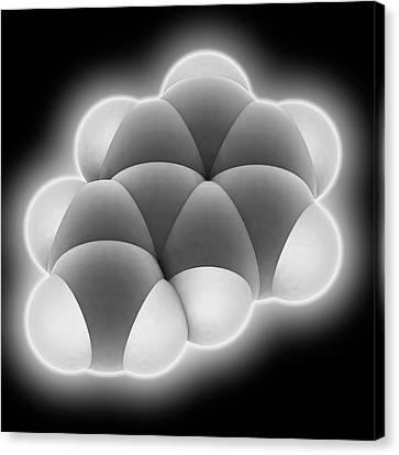 Styrene Molecule Canvas Print by Laguna Design