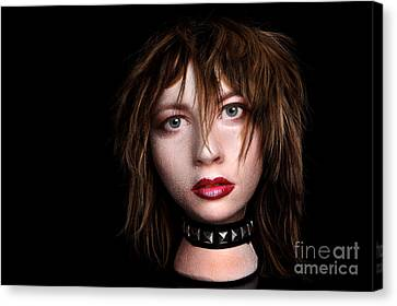 Styrofoam Wig Head With Face Canvas Print by Sharon Dominick