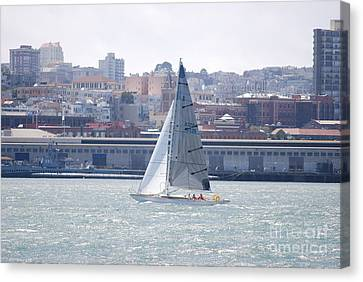 Sub Sail Chocolate Canvas Print by George Mount