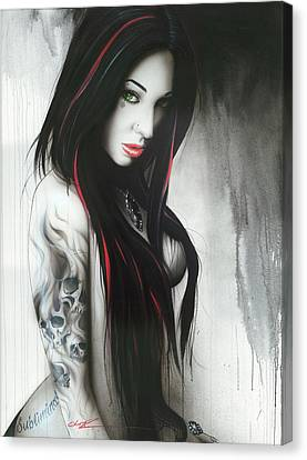 Portrait - ' Subliminal II ' Canvas Print by Christian Chapman Art
