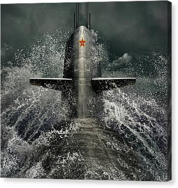 Submarine Canvas Print by Dmitry Laudin