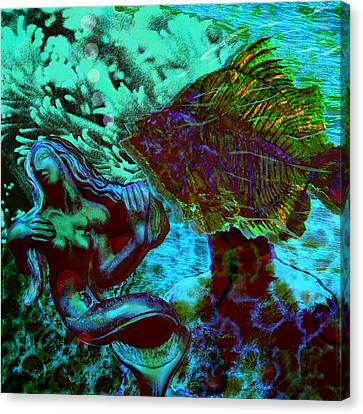 Submerged Courtship Canvas Print by Maria Jesus Hernandez
