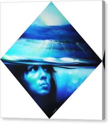 Portrait - ' Submersion ' Canvas Print