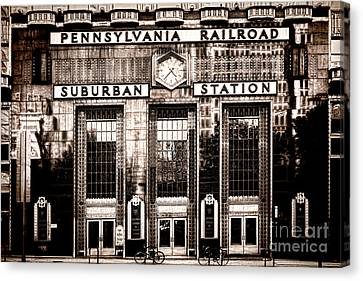 Canvas Print featuring the photograph Suburban Station by Olivier Le Queinec