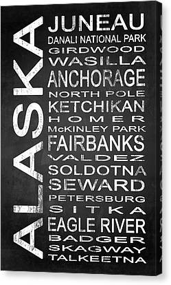 Subway Alaska State 1 Canvas Print by Melissa Smith