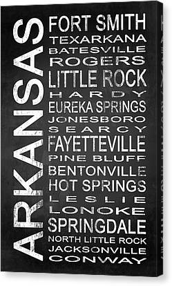 Subway Arkansas State 1 Canvas Print by Melissa Smith