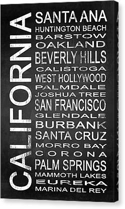 Subway California State 1 Canvas Print by Melissa Smith