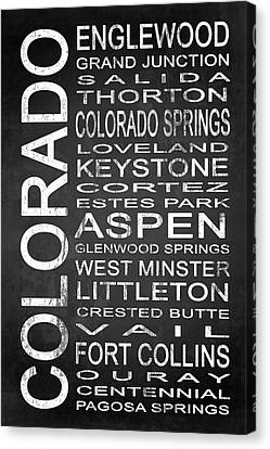 Subway Colorado State 2 Canvas Print by Melissa Smith