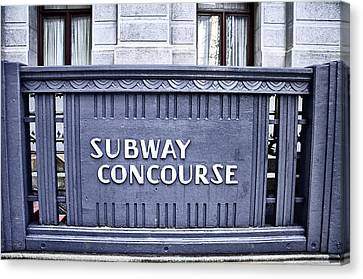 Subway Concourse At City Hall Canvas Print by Bill Cannon