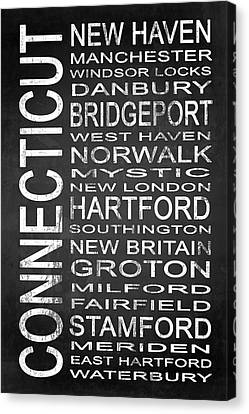 Subway Connecticut State 1 Canvas Print by Melissa Smith