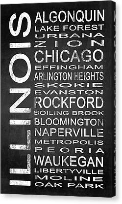 Subway Illinois State 1 Canvas Print by Melissa Smith