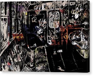 Liberty Avenue Canvas Print - Subway by Lauren Caldwell