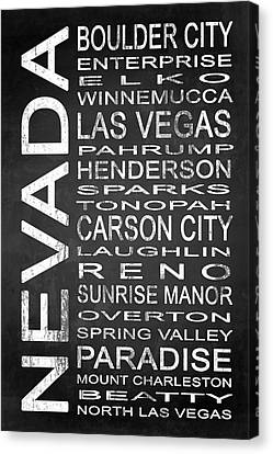 Subway Nevada State 1 Canvas Print by Melissa Smith