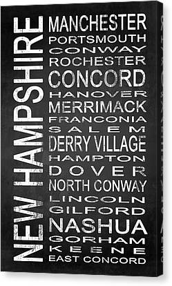 Subway New Hampshire State 1 Canvas Print by Melissa Smith