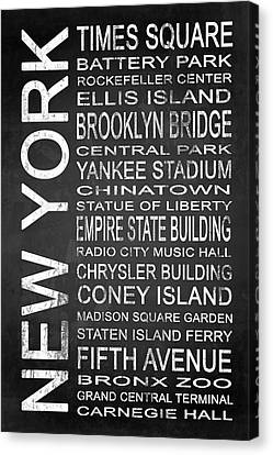Subway New York 1 Canvas Print