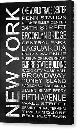 Staten Island Ferry Canvas Print - Subway New York 3 by Melissa Smith