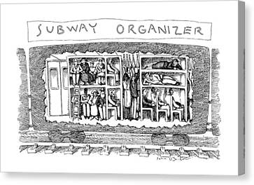 Drawers Canvas Print - Subway Organizer by John O'Brien