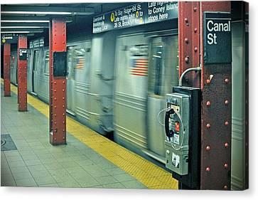 Subway Canvas Print by Paul Van Baardwijk