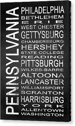 Subway Pennsylvania State 1 Canvas Print by Melissa Smith