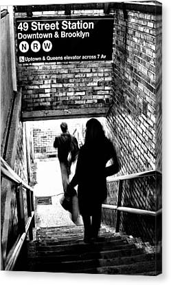 Canvas Print - Subway Shadows by Karol Livote