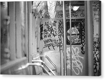 Canvas Print featuring the photograph Subway by Steven Macanka