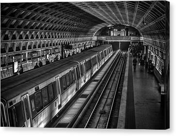 Subway Train Canvas Print by Lynn Palmer